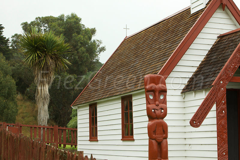 Onuku church,Akaroa,New-Zealand