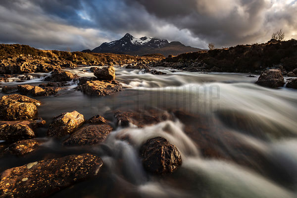 Sligachan River at Sunset