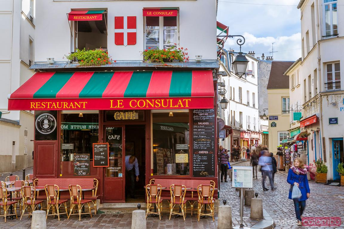 Famous cafe Le Consulat in Montmartre, Paris, France