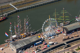 Harlingen - Luchtfoto Tall Ships Races 11