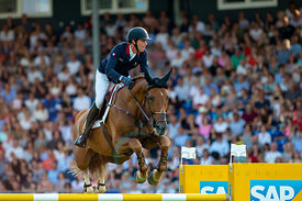 19/07/18, Aachen, Germany, Sport, Equestrian sport CHIO Aachen 2018 - ,  Image shows Kevin STAUT (FRA) riding Bahia de Mars. ...