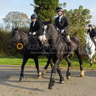 AM leaving the meet at Long Clawson 28/10