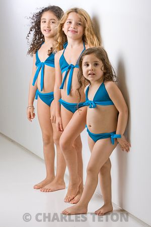 Gaia and Sofie, children's swimwear.