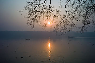 India - Chandannagar - Sunrise over the Hooghly River