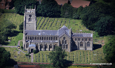 aerial photograph of Terington St Clement Church Norfolk England UK
