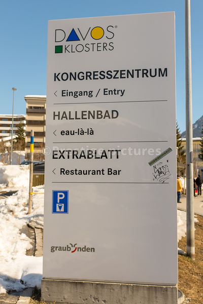 SIgn for the Davos Congress Centre