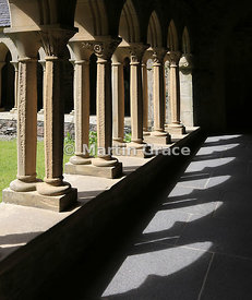 The Cloister (largely reconstructed in 1950s), Iona Abbey, Iona, Inner Hebrides, Scotland