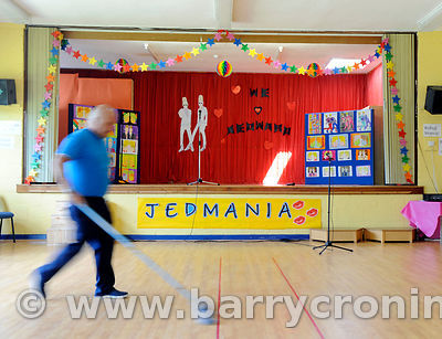 NO REPRO FEES 23rd June, 2011.Photographed at the Presentation NS Ballmakenny, Droghedais school caretaker Don McDonald clean...