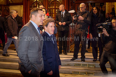 David Walliams with Rob Brydon at the London Palladium