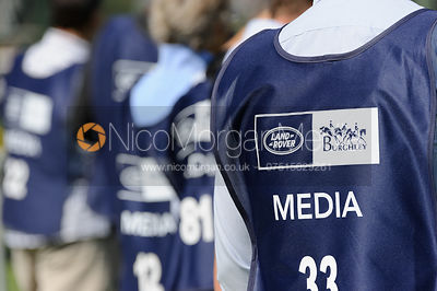Media vests - Land Rover Burghley Horse Trials, 5th September 2013.