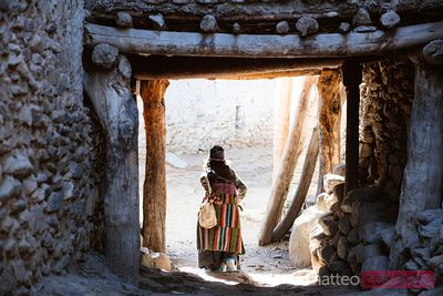 Local old woman, Upper Mustang region, Nepal