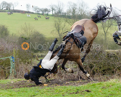 Philip Johnson falling from his horse near Bleak House, Knossington