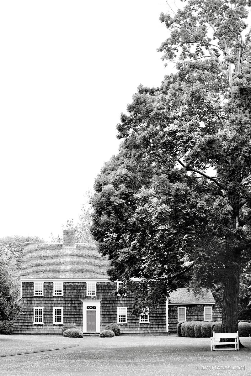 CUSTOM HOUSE SAG HARBOR HISTORIC LONG ISLAND NY BLACK AND WHITE VERTICAL