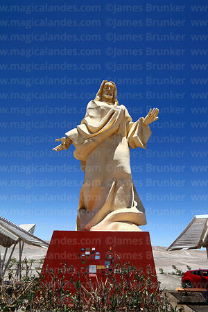 Jesus Christ statue on outskirts of Calama, Region II, Chile