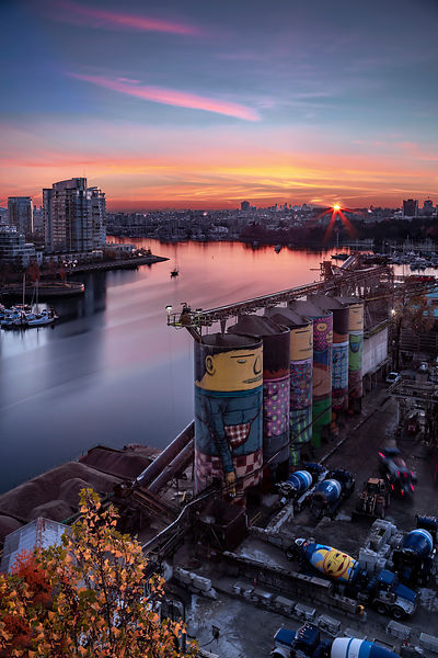 Granville Island at Sunrise