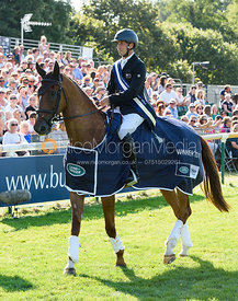 Tim Price and BANGO, show prize giving, Land Rover Burghley Horse Trials 2018