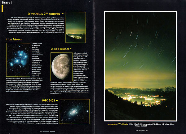 ASTRONOMIE MAGAZINE - March 2001