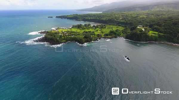 Keanae Peninsula Agriculture Maui Hawaii Drone Video