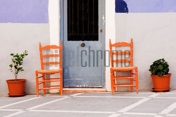 Orange Chairs Villa Joiosa Benidorm Spain