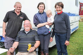 Last year's BE100 winner Katie Hancock and family. Katie rides a different horse this year