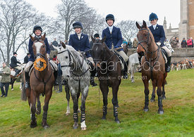 Bambi Hornbuckle's Final Meet as Hon Secretary - The Belvoir Hunt at Belvoir Castle, Saturday 9th March 2013