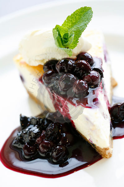 Blackcurrant cheesecake.