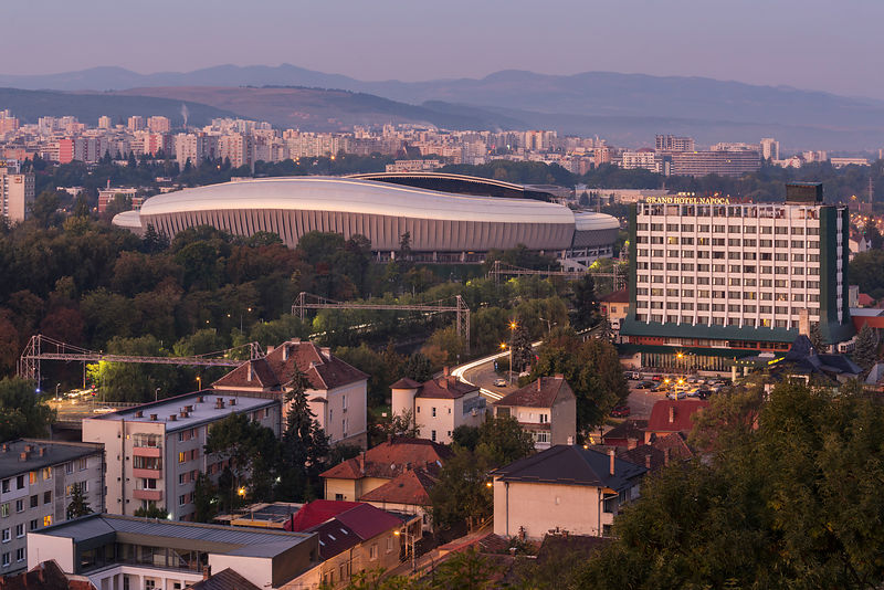 Elevated View of the Cluj Arena
