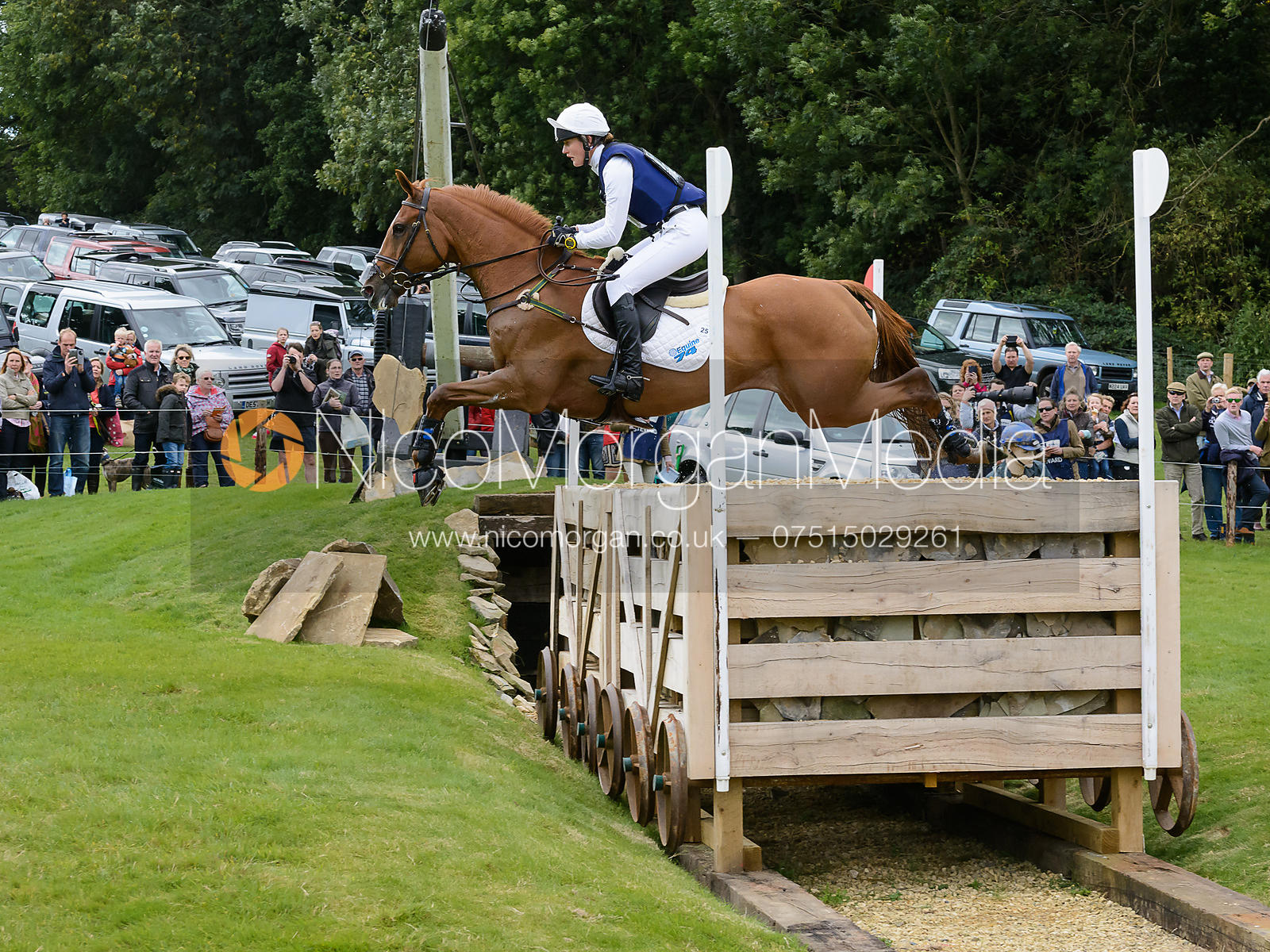Willa Newton and NEWMARKET VASCO ONE - Burghley 2015