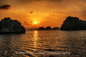 Sunset 2 in Halong Bay Vietnam