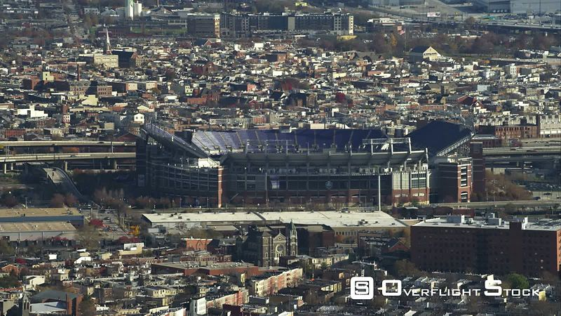 Flying close past M&T Bank Stadium in Baltimore, MarylandShot in November