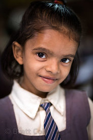 Girl at a school in Varanasi, India operated by Dutch NGO Duniya (duniya.org)