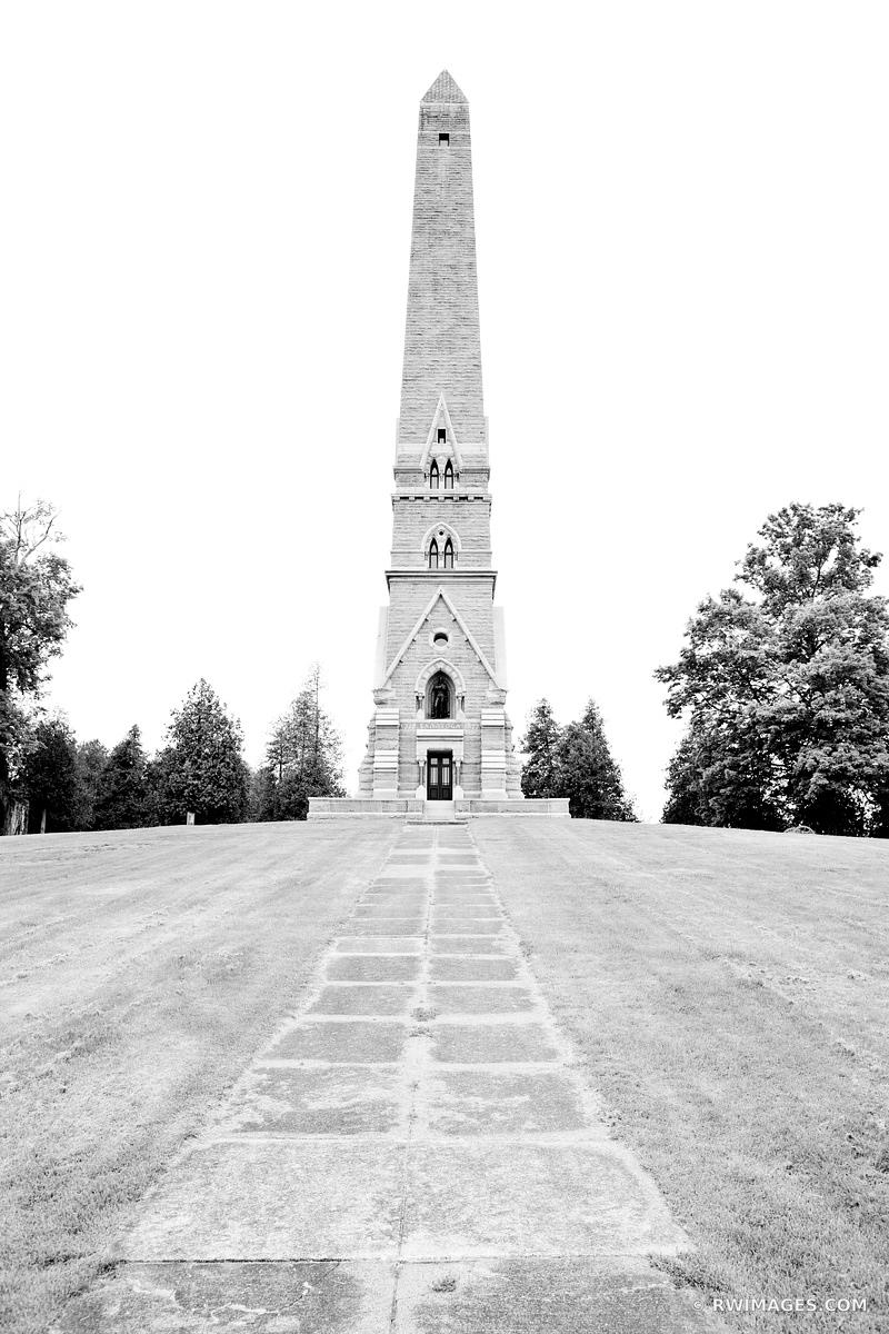 SARATOGA MONUMENT SARATOGA NATIONAL HISTORICAL PARK NEW YORK BLACK AND WHITE