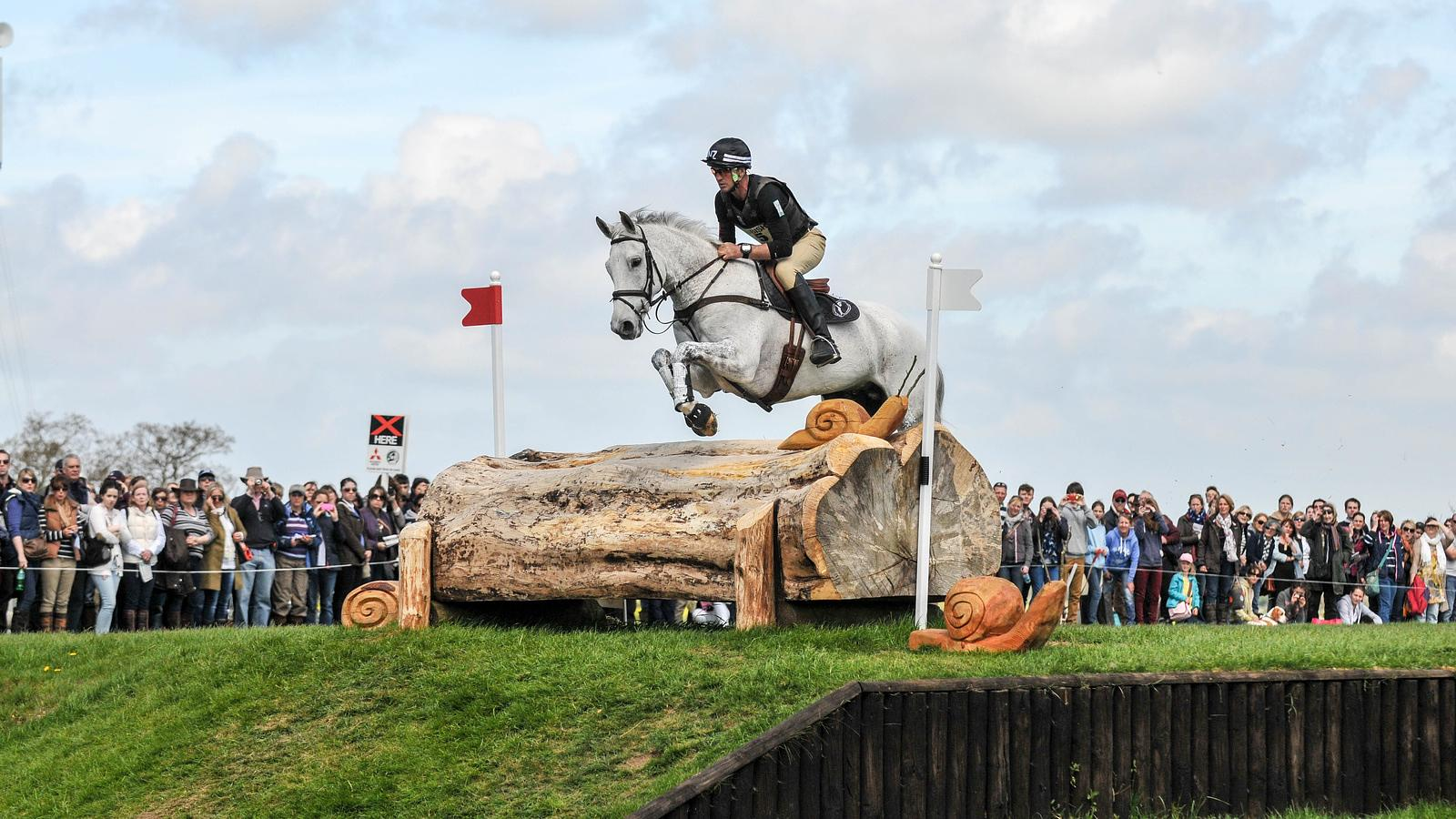 Andrew Nicholson with Avebury at the Mitsubishi Motors Badminton Horse Trials