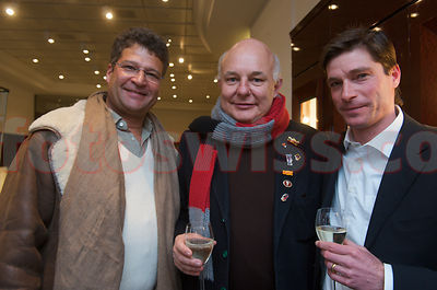 Vernissage of Exhibition by George Bingham in St.Moritz