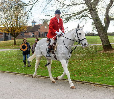 Billy Morris at the meet. Quorn Hunt Opening Meet 2018