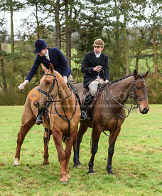 At the meet at Eaton Grange. The Belvoir Hunt at Eaton Grange 7/2