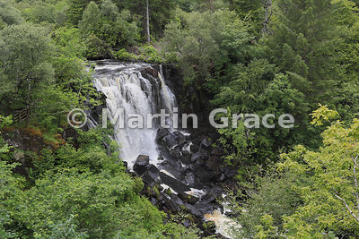 Aros River Waterfall from the Alainn View Lookout Tower, Isle of Mull, Scotland