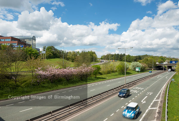 Queensway dual carriageway, Telford Town Centre.