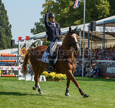 Camille Lejeune and TAHINA DES ISLES, showjumping phase, Land Rover Burghley Horse Trials 2018