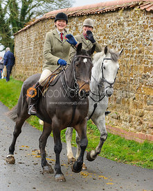 Ruth Atkinson and Monica Tebbutt-Wheat - The Cottesmore Hunt at Tilton on the Hill, 9-11-13