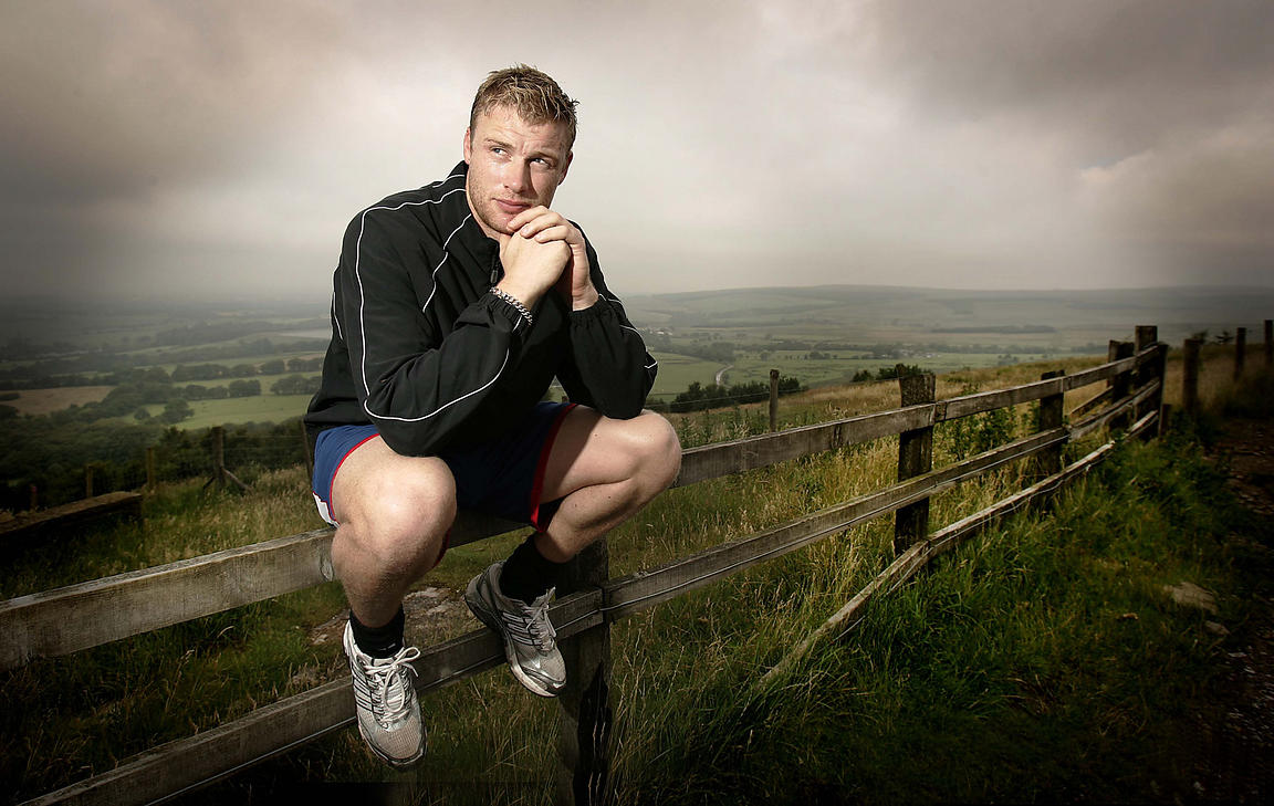 Freddie Flintoff training in Rivington