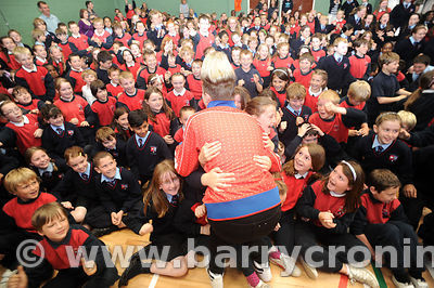 NO REPRO FEES 23rd June, 2011.Photographed at the St Colmcille's NS Knocklyon arepupils with X-Factor double-act Jedward went...