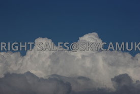 Deep blue Sky and white clouds