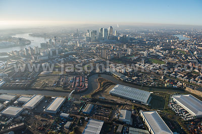 Aerial view of Canning Town, London