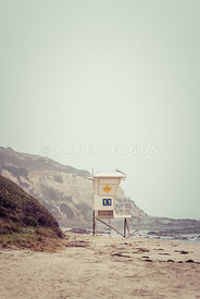 Crystal Cove Lifeguard Tower #11 Retro Picture