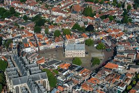 Gouda - Luchtfoto oude stadhuis
