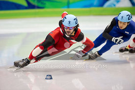 Feb 26, 2010: Pacific Coliseum, Vancouver, BC. Short Track Speed Skating action at the Vancouver 2010 Winter Olympics. Photo ...