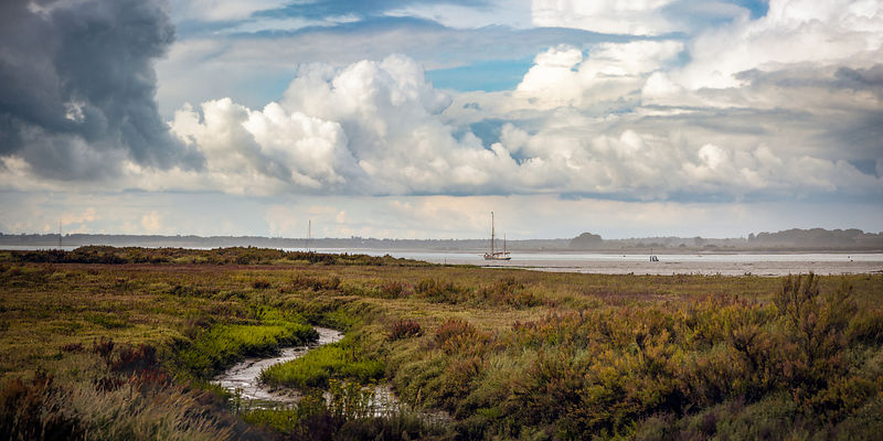 Shower clouds over the Colne Estuary