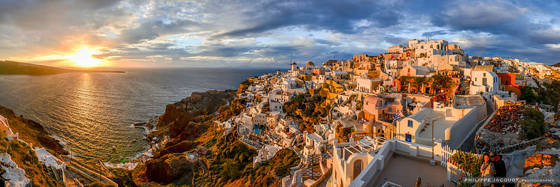 Sunset over Oia - Santorini, Greece