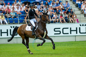 21/07/18, Aachen, Germany, Sport, Equestrian sport CHIO Aachen 2018 - U25 Springpokal,  Image shows Isabelle Gerfer. Copyrigh...